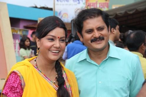Sucheta Khanna & Rohitashv Gaur at the launch of SAB Ki Sawaari