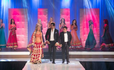 Designer Asif Shah with Indian Entrepreneur Style Icon Award winner Mr. Waahiid Ali Khan walked the ramp after the AGF show in Las Vegas.,[1]