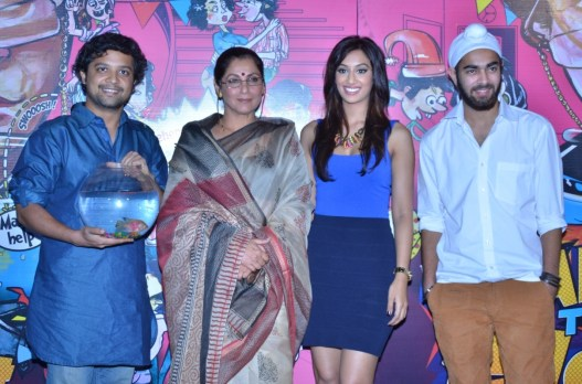 Cast - What The Fish - (L to R - Anand Tewari, Dimple Kapadia, Shabina Shabnam, Manjot Singh)1