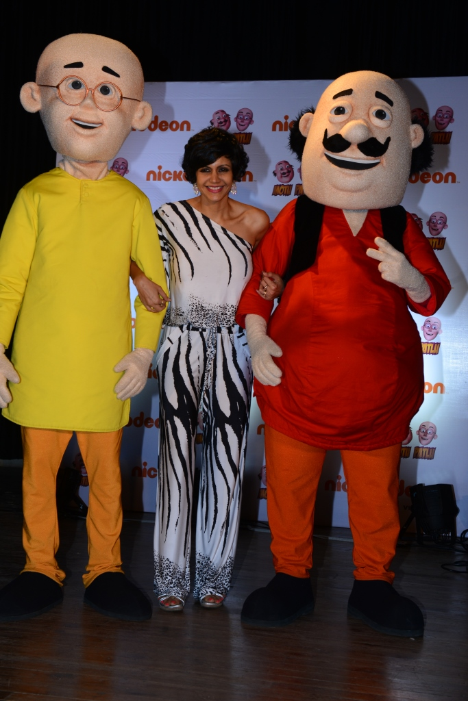 L-R Patlu Mandira Bedi Motu at the Live theatrical