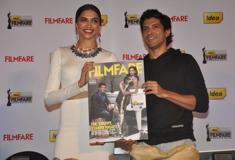Deepika Padukone & Farhan Akhtar launched the 59th Idea Filmfare Awards Special issue at JW Marriott.8