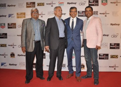 Mr. Tarun Rai (CEO, WWM) welcoming the guests at the '6th TopGear Awards 2013' at Sofitel, Mumbai.