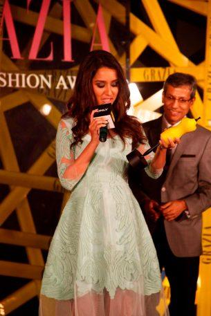 Mr. Tarun Rai (CEO, WWM) & Grazia Face of the Year, Shraddha Kapoor at the Grazia Young Fashion Awards 2014 at the Leela, Mumbai