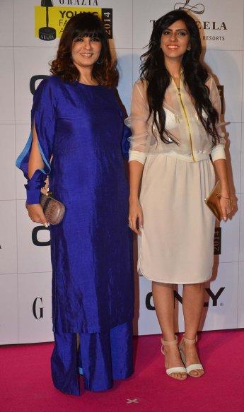 Neeta & Nishka Lulla at the Red Carpet of Grazia Young Fashion Awards 2014 at the Leela, Mumbai