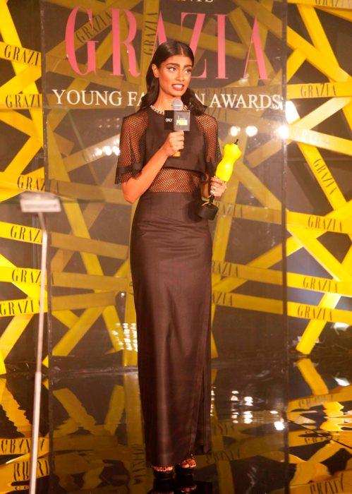 ONLY Model of the Year, Archana Akhil Kumar at the Grazia Young Fashion Awards 2014 at the Leela, Mumbai.