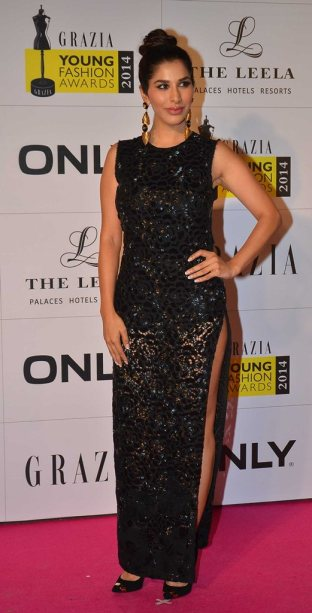 Sophie Chodry at the Red Carpet of Grazia Young Fashion Awards 2014 at the Leela, Mumbai