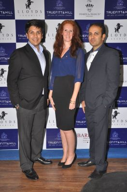 07 L-R Mr. Krishna Gupta, MD Lloyds Luxuries LTD, Roxanne Lautenbach, Inernational Brand Manager T&H, and Mr. Istayak Ansari, Director Lloyds Luxuries Ltd. @ Truefitt & Hill launch event
