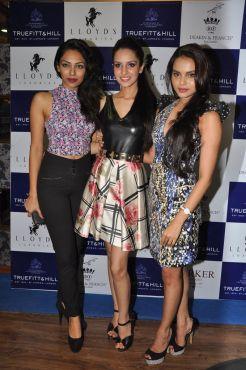 26 L-R Sobhita Dhulipala, Miss India Earth 2013, Koyal Rana, Miss India World 2014 and Gail Da Silva, Miss India United Continent 2014 @ Truefitt & Hill launch event