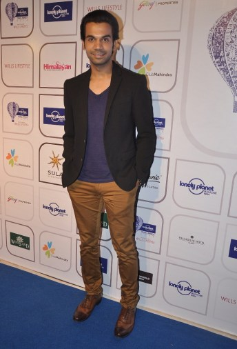 Rajkummar Rao at the Blue carpet of 'The Lonely Planet Magazine India Travel Awards 2014'