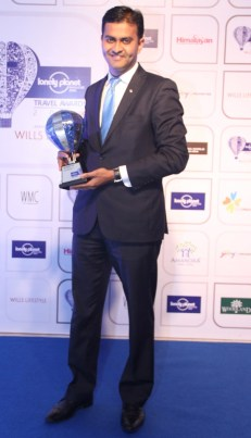 Winners with the Trophy at the Blue carpet of 'The Lonely Planet Magazine India Travel Awards 2014'.4