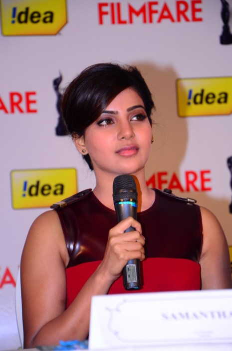 Samantha Prabhu at the '61st Idea Filmfare Awards 2013' (SOUTH) Press Conferenece at Taj Krishna in Hyderabad.14