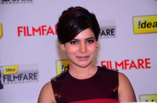 Samantha Prabhu at the '61st Idea Filmfare Awards 2013' (SOUTH) Press Conferenece at Taj Krishna in Hyderabad.16
