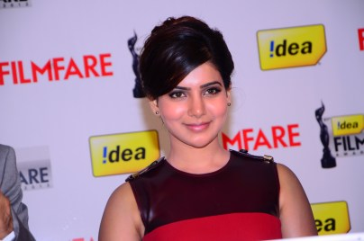Samantha Prabhu at the '61st Idea Filmfare Awards 2013' (SOUTH) Press Conferenece at Taj Krishna in Hyderabad.7