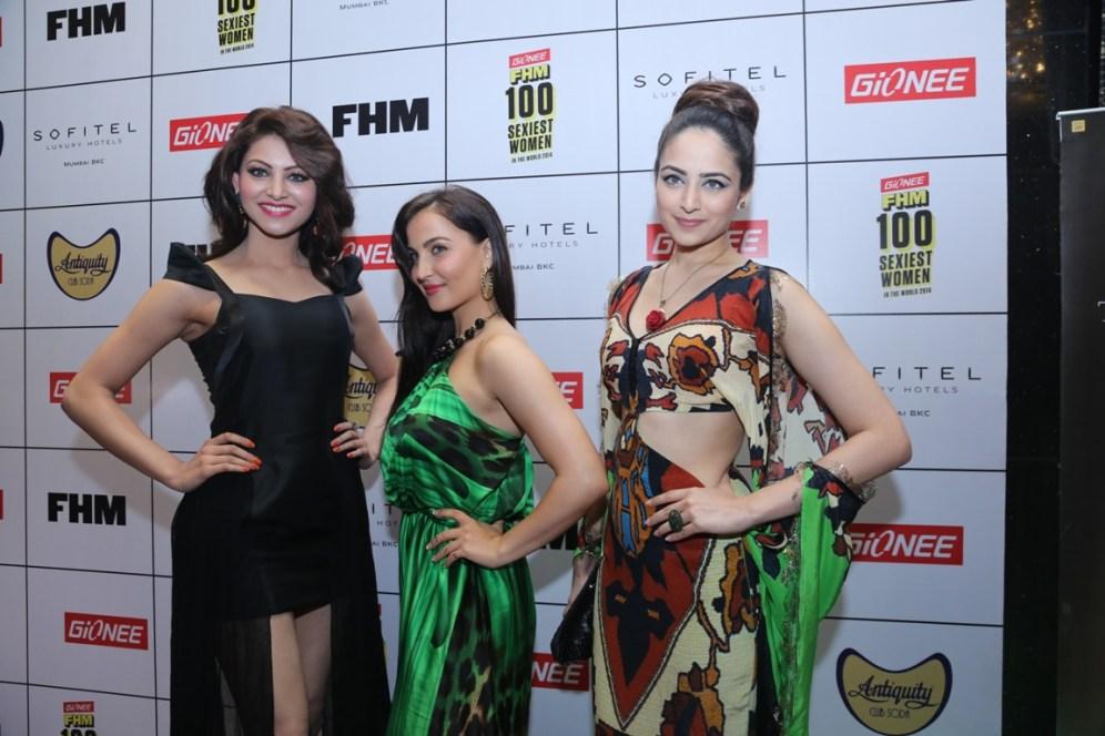 Urvashi Uautela,Elli Avram & Zoya Afroz at FHM Party