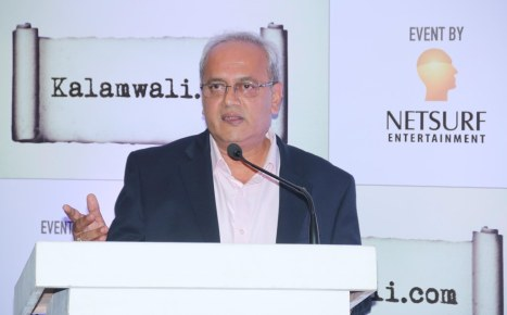 Mr. Chakor Gandhi at the launch of kalamwali.com 'a world of words'.