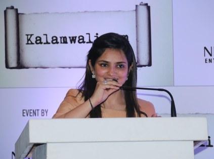 Sonia Gandhi (founder, kalamwali.com) at the launch of kalamwali.com 'a world of words'.2