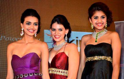 1st Runner up Monica, Siddhi Winner & 2nd Runner up Neelam of 'Femina Style Diva 2014'..
