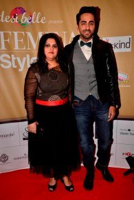 Tanya Chaitanya (Editor, Femina Magazine) & Ayushman Khurana at the 'Femina Style Diva 2014' finale