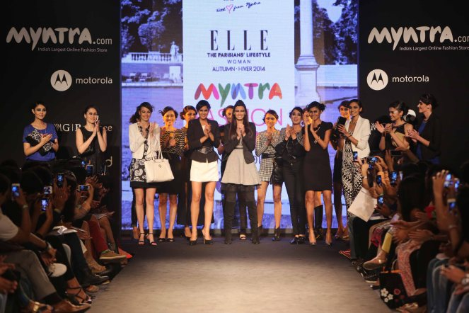 Myntra Fashion Weekend 2014 - Day 3 - Elle French Fashionwear Unveils A Scintillating Autumn Winter 2014 Line (8)