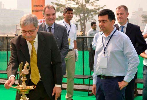Vyomesh Kapasi (CEO of Kotak Mahindra Prime) at the lamp lighting ceremony of the inauguration