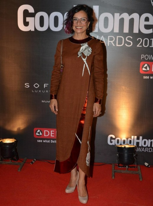 Adhuna Bhabani Akhtar at the Red Carpet of GoodHomes Awards 2014 at Sofitel,BKC.