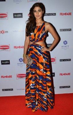 Rhea Chakraborty at the Red Carpet of '60th Britannia Filmfare Awards 2014' Pr Awards Party at Hyatt Regency.