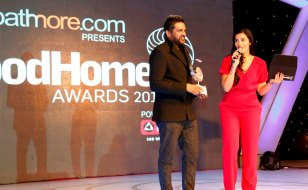 Rocky S presenting the award at GoodHomes Awards 2014 at Sofitel,BKC.