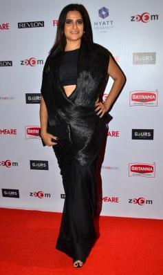 Sona Mohapatra at the Red Carpet of '60th Britannia Filmfare Awards 2014' Pr Awards Party at Hyatt Regency