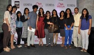 The Core Team of Femina with Aditi Rao Hydari at the Femina Salon & Spa magazine cover launch at White Owl Lounge