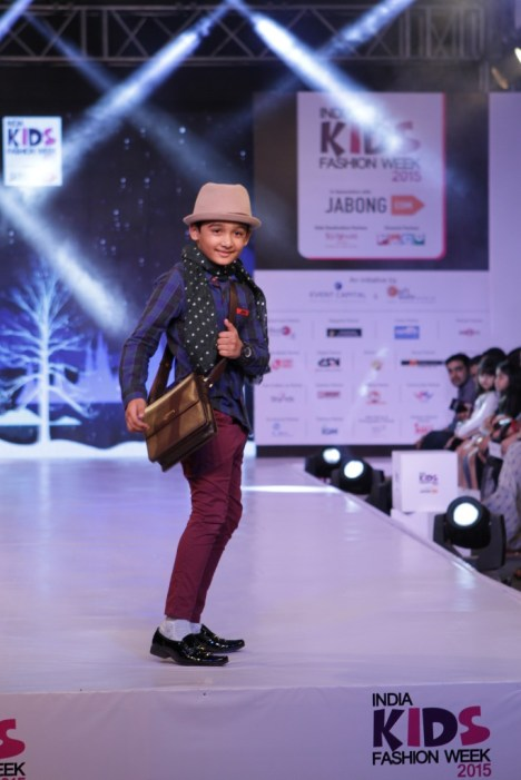 2 Children walk the ramp for Brown Bows at IKFW 2015