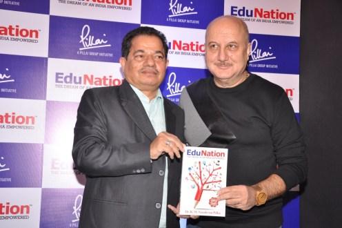 Dr Vasudevan Pilla & Actor Anupam Kher @ Book Launch - EduNation by Dr Pillai_03
