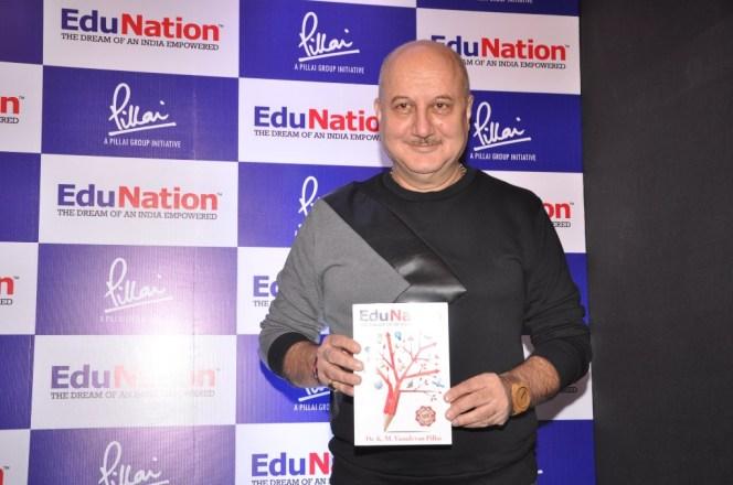 Dr Vasudevan Pilla & Actor Anupam Kher @ Book Launch - EduNation by Dr Pillai_05