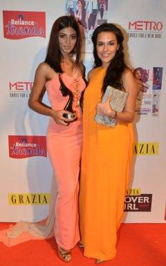 Grazia Cover Girl Hunt Winner Ashwati Ramesh with Neha Dhupia at the Grazia Cover Girl Hunt Finale.