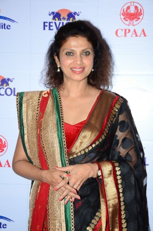 Varsha Usgaonkar at the Media Preview of collections by Shaina NC to be presented at Fevicol Caring with Style