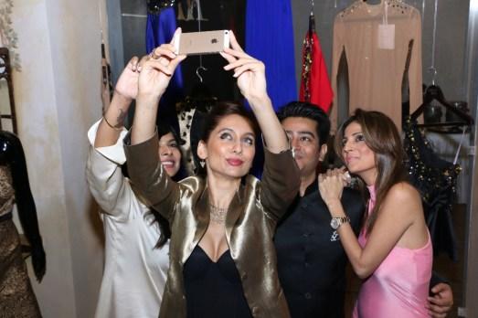 Fashion Selfie - L to R - Susan Rajiv Lakshman, Anusha Dandekar, Harsh Gupta and Tanaz Doshi