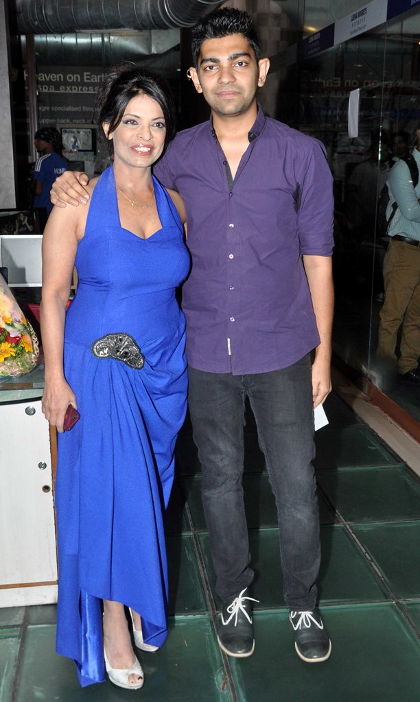 With son at Leena Mogre's Debut Book Launch 'Total Fitness' at her gym in Bandra.