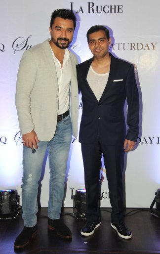 Ajaz Khan & Mr. Avinash Singh, owner of La Ruche at the Six Months Completion Celebration of La Ruche, Bandra.