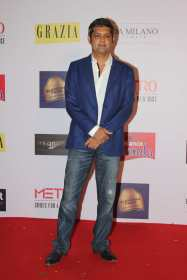 Deepak Lamba (CEO, World Wide Medias) at the Red Carpet of Grazias Cover Girl Hunt at Tote on the Turf