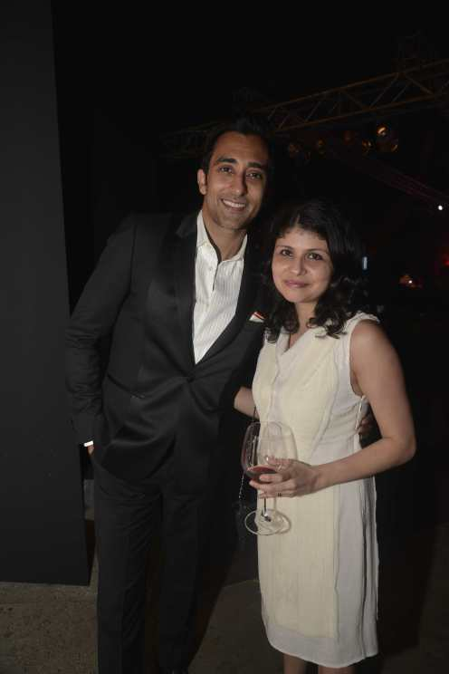 Rahul Khanna & Mehernaaz Dhondy (Editor, Grazia) at the Red Carpet of Grazia Cover Girl Hunt at Tote on the Turf