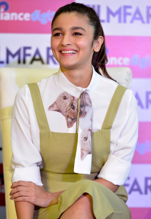 Alia Bhatt at the Filmfare Magazine Cover page launch held at Reliance Digital, Juhu