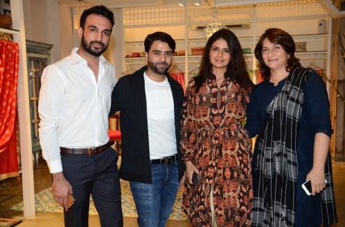 10.(L-R) Mr.Sameer Junaidi of Kashish,Designer Shruti Sancheti & Feroza Dalal,Merchandiser at KASHISH @AW16 preview at KASHISH by Shruti Sanchet