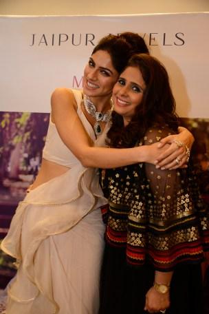 Sapna Pabbi and Sarika Naheta (Director, Jaipur Jewels) at Jaipur Jewels Myga Collection Launch
