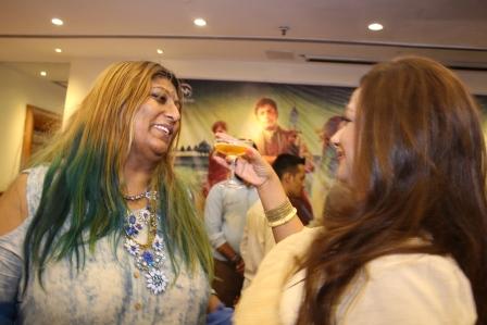 Anusha Srinivasan Iyer and Neelima Azeem share a moment
