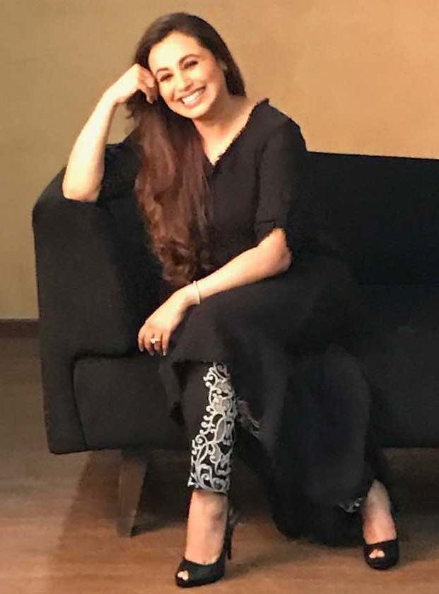 Actress Rani Mukerji spotted wearing Designer label Bhumika & Jyoti