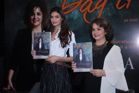 Athiya Shetty and Nina Lekhi at the launch of the Book