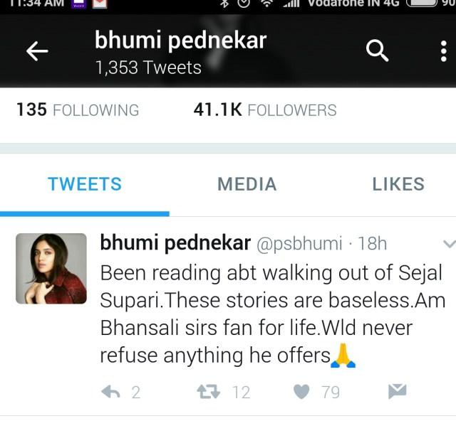 Bhumi Pednekar Tweet