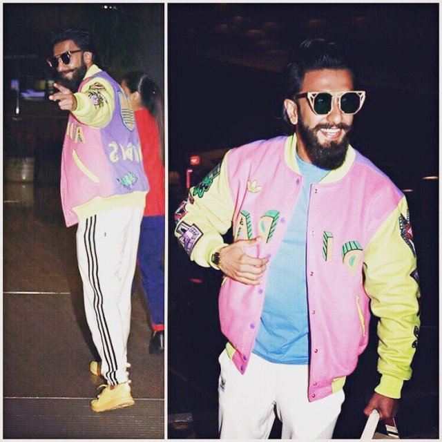 Ranveer Singh on his way to Switzerland