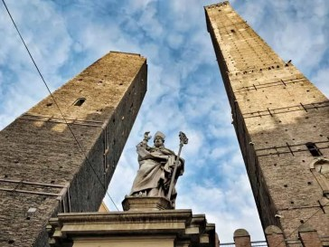 Image result for the Archiginnasio, the medieval Two Towers,