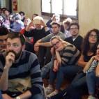 Bologna, 22/04/2017. FESTIVAL DELLA SCIENZA MEDICA 2017. SALA DI RE ENZO. In Coscienza: cosa è, come la misuriamo e perché la possiamo perdere. Marcello Massimini. Foto Paolo Righi/Meridiana Immagini