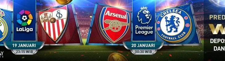 Arsenal vs Chelsea 20/01/19